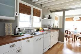 countertops modern all white farmhouse kitchen butcher block
