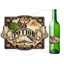 printable fairy potion poison label printable bottle label fun