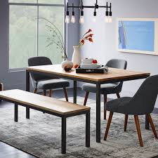 Box Frame Dining Table Wood Woods Apartments And Room - West elm emmerson industrial expandable dining table