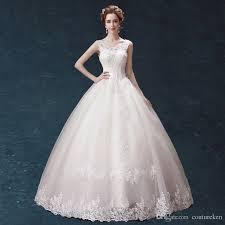dh com wedding dresses wedding dresses 022 dh boat neck shoulder floor length white