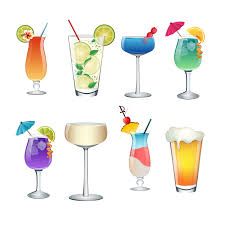 cocktail vector cocktail clipart summer item pencil and in color cocktail
