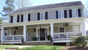 Colonial House Design by Front Porch Addition Colonial Home Design Ideas