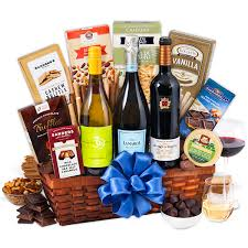 vineyard tour trio wine gift basket by gourmetgiftbaskets