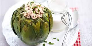 artichaut cuisine recette légère fleur d artichaut farcie à la mousse de thon