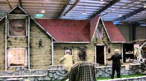 Halloween Fun House Decorations Haunted House Facade Built In 3 Days Youtube