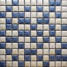 Bathroom Floor Mosaic Tile - blue and beige porcelain tile backsplash kitchen wall art bathroom