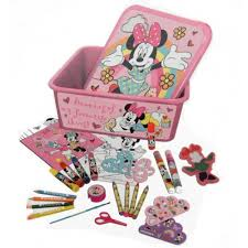 disney minnie mouse colouring tub stationery 5055114238882