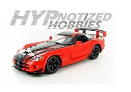 black dodge viper dodge viper srt 10 acr black 1 24 diecast model car by bburago