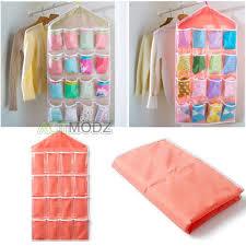 Underwear Organizer Hanging Underwear Organizer Bag 16 Pockets Wardrobe Closet Towel