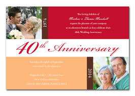 40th anniversary invitations 40th anniversary blocks anniversary invitations invitation 40th
