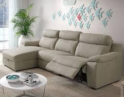 canapes relaxation canapé d angle relax électrique avec coffre beige en tissu
