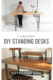 modern standing desk 6 diy standing desks you can build too notsitting com