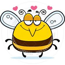 cartoon little bee in love by cory thoman toon vectors eps 4325