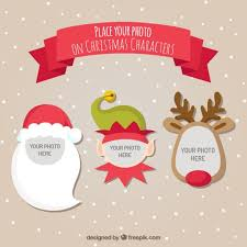 christmas characters templates for pictures vector free download