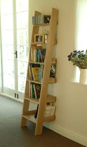 Short Ladder Bookcase by High Quality Oak Shelf Ladder Bookshelf Media Storage Display Unit