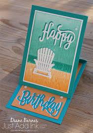 beach themed birthday card thesearemystamps