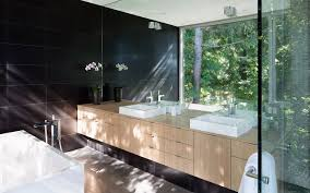 One Way Mirror Bathroom by Russet Residence By Splyce Design Caandesign Architecture And