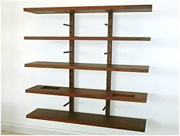How To Build A Wall Mounted Bookcase Absorbing Set Together With 4 Wall Mounted Bookshelves U To Trendy
