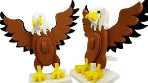 diy how to make 3d eagle bird bird making craft for kids