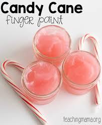 candy cane finger paint