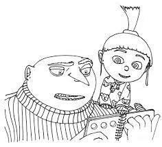 despicable me coloring page free coloring pages for kids