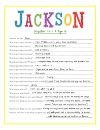 annual interview questions for kids birthdays parents and