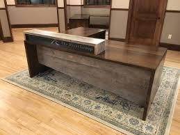 Custom Reception Desk Business Grain Designs