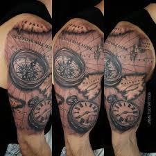 Map Tattoos Jaime Deleon Tud Certified Artist
