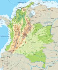 Map Of Caribbean And South America by Colombia Regional Map