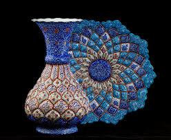 Enamel Vase Enamel Vase With Plate Stock Image Image Of Vase Persia 52196191