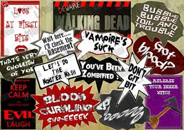 walking dead party supplies photo booth props walking dead party