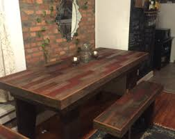Harvest Dining Room Table Barn Wood Table Etsy