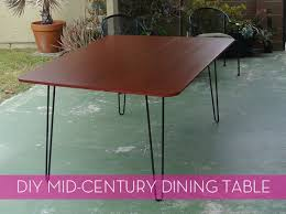 How To Make Your Own Kitchen Table by How To Make A Diy Mid Century Modern Dining Table Mid Century