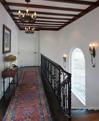 glamorous hallway runners in staircase transitional with carpet