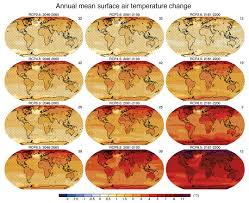 National Temperature Map Future Of Climate Change Climate Change Science Us Epa
