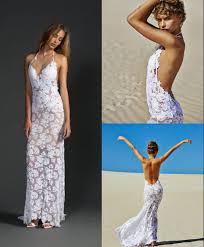 turmec halter beach wedding dresses for bride