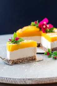 vegan mango and ginger cheesecake lazy cat kitchen