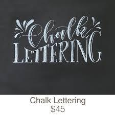 chalk lettering garage door studio