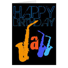colors of jazz sax happy birthday black greeting card zazzle com