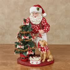 clothtique santa dog clothtique santa figurine