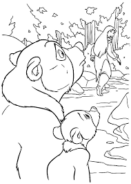 brother bear watching nita leave coloring pages batch coloring