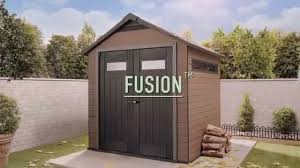 Keter Plastic Wood Plastic Composite Shed Keter Fusion Sheds Youtube