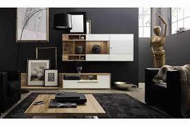 living room fashionable black white interior design with white