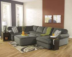 sectional living room sets jessa place pewter 39803 3 pc sectional