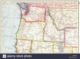 Map Montana Usa Pacific North West Washington State Oregon Idaho Montana