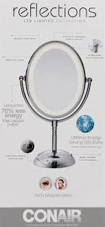 conair led lighted mirror conair reflections led lighted collection polish chrome finish 1 0