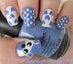 Baby Nail Art Design Teddy Bear Nails Baby Nail Art Youtube