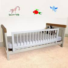 wooden bed rails safetots wooden bed rail white amazon co uk baby
