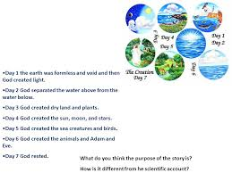what day did god create light day 1 the earth was formless and void and then god created light
