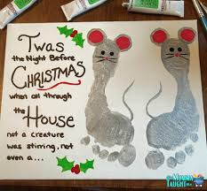 twas the night before christmas mouse foot print wall art my